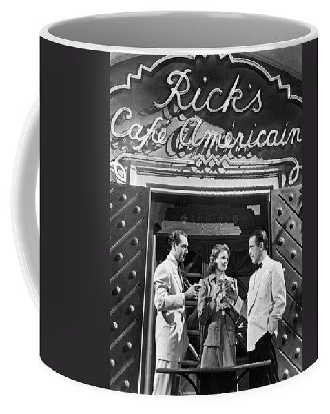 1942 Coffee Mug featuring the photograph On The Casablanca Set by Underwood Archives