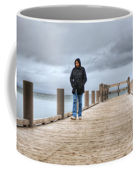 Lake Coffee Mug featuring the photograph On The Dock by Diego Re