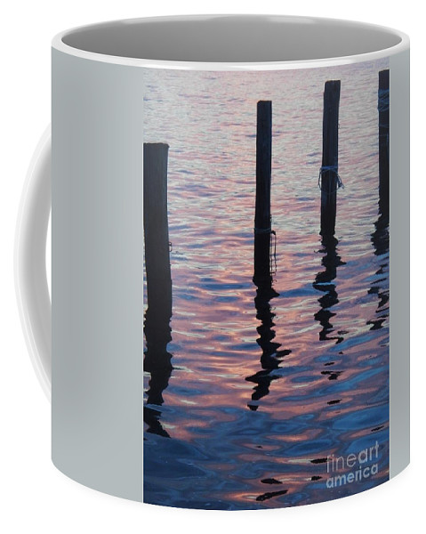 River Coffee Mug featuring the photograph On The Dock Of The Bay by Eric Schiabor