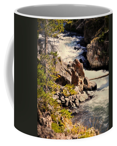 Waterfall Coffee Mug featuring the photograph On The Firehole by Marty Koch