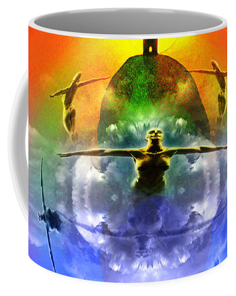Sunrise Coffee Mug featuring the digital art On The Rise by Neil Finnemore