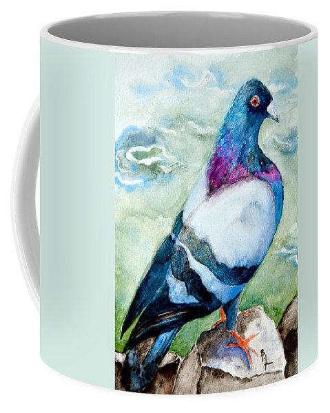 On The Rocks Coffee Mug featuring the painting On The Rocks by Beverley Harper Tinsley