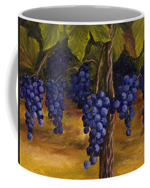 Kitchen Art Coffee Mug featuring the painting On The Vine by Darice Machel McGuire