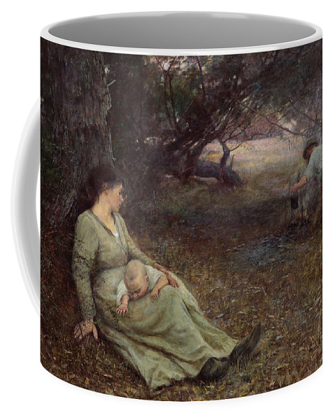 Frederick Mccubbin Coffee Mug featuring the painting On the wallaby track by Frederick McCubbin