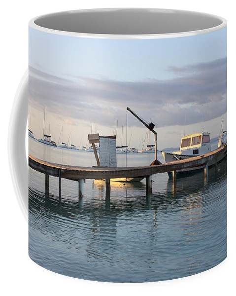 Boats Coffee Mug featuring the photograph On The Water by Eric Glaser