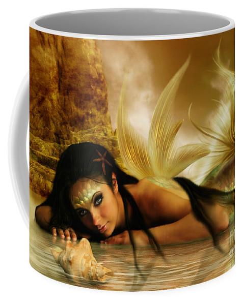 Fantasy Coffee Mug featuring the digital art Ondine by Babette Van den Berg