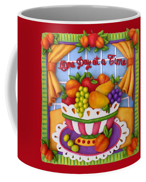 Food Coffee Mug featuring the mixed media One Day At A Time by Amy Vangsgard