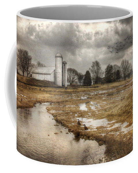 Barn Coffee Mug featuring the photograph One Day At A Time by Lori Deiter