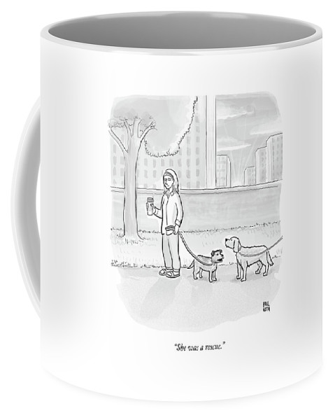 One Dog Talks To Another Coffee Mug