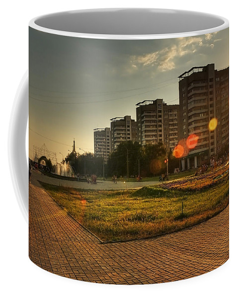 Centre Coffee Mug featuring the photograph One Hot Evening by Svetlana Sewell