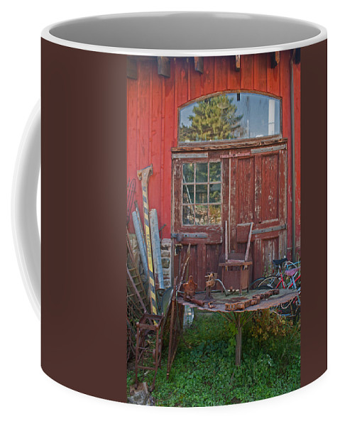 Antiques Coffee Mug featuring the photograph One Mans Trash by Michael Porchik