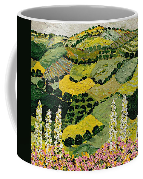 Landscape Coffee Mug featuring the painting One More Smile by Allan P Friedlander