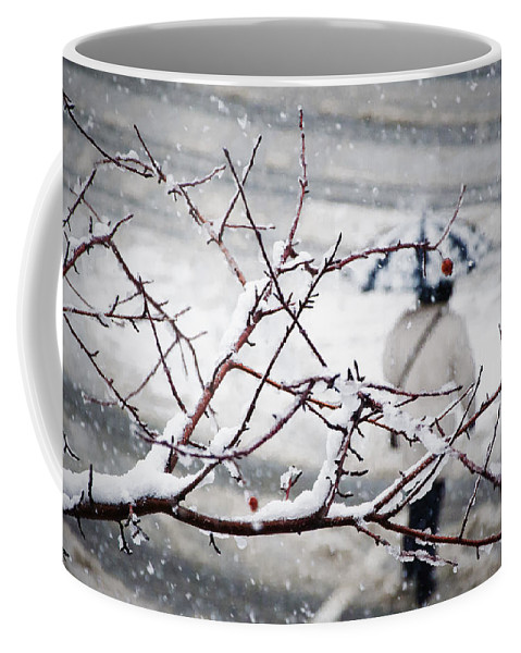 Snow Coffee Mug featuring the photograph One Morning In Montreal by Valerie Rosen