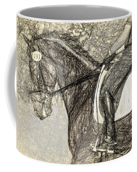 Horse Coffee Mug featuring the photograph One Nine Three by Alice Gipson