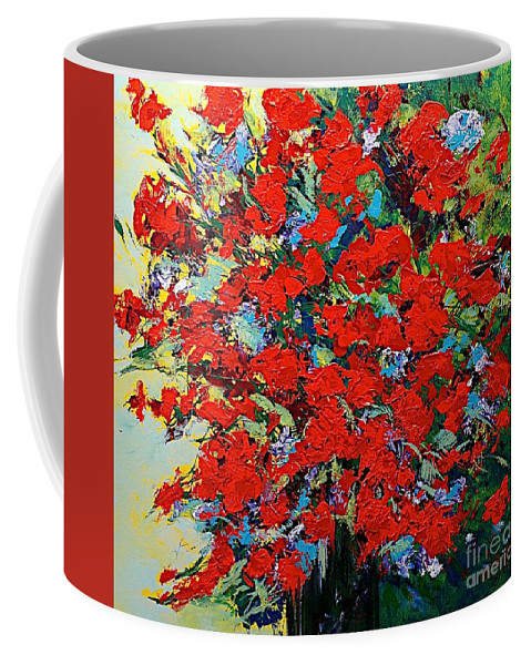 Landscape Coffee Mug featuring the painting One Of A Kind by Allan P Friedlander