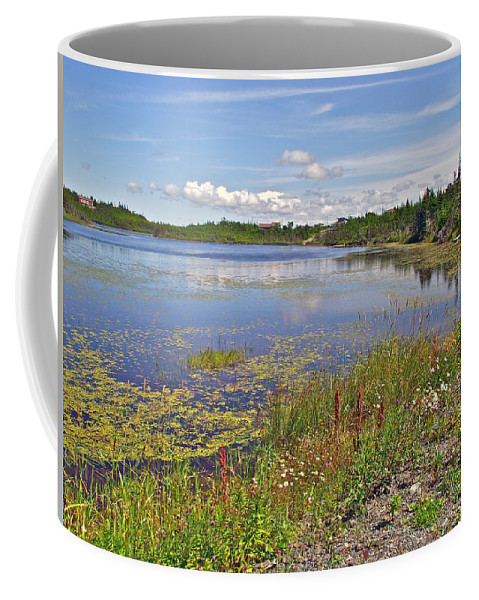 One Of Many Lakes Coffee Mug featuring the photograph One Of Many Lakes In Newfoundland by Ruth Hager