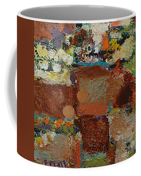 Landscape Coffee Mug featuring the painting One Way by Allan P Friedlander