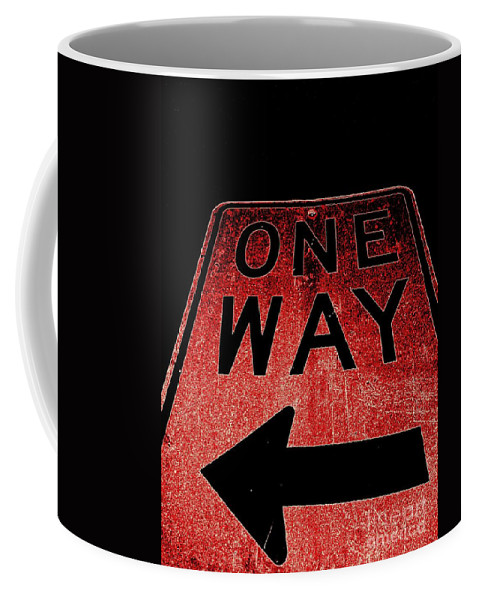 Pop Art Coffee Mug featuring the photograph One Way by Ed Weidman
