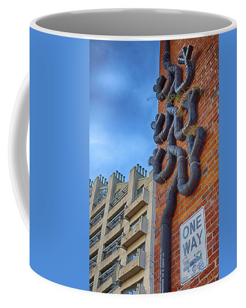 Drainage Coffee Mug featuring the photograph One Way To A Wrong Turn by Scott Campbell