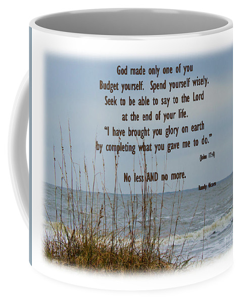 Beach Coffee Mug featuring the photograph Only One Of Me by Sandra Clark