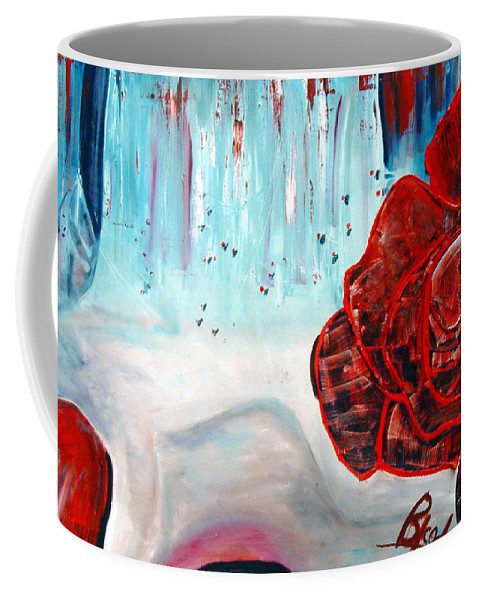 Landscape Coffee Mug featuring the painting Op And Rose by Peggy Blood