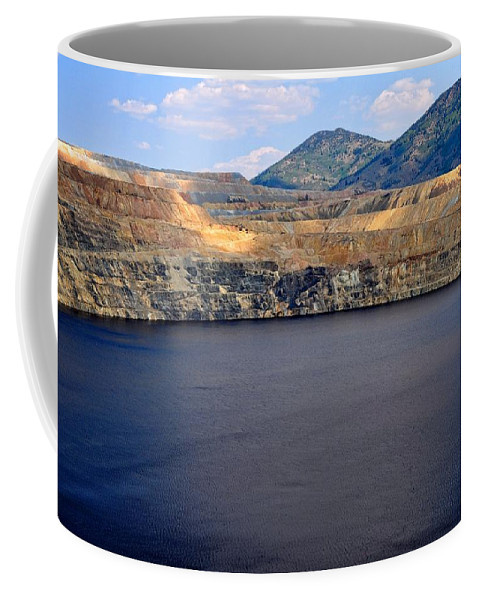 Butte Coffee Mug featuring the photograph Open Pit Copper Mine by Image Takers Photography LLC - Laura Morgan