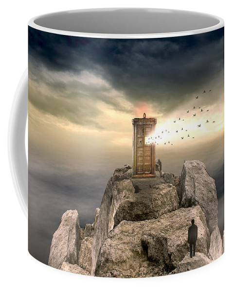Vintage Coffee Mug featuring the photograph Open Sea by Mark Ashkenazi