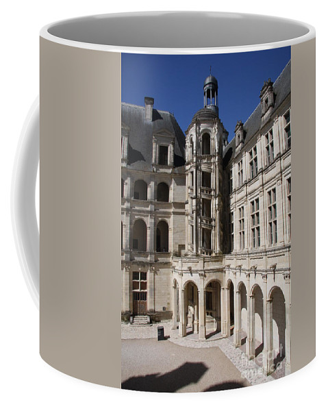 Palace Coffee Mug featuring the photograph Open Staircase Chateau Chambord - France by Christiane Schulze Art And Photography