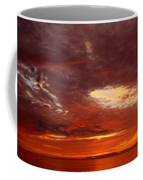 Topsail Beach Coffee Mug featuring the photograph Eye In The Sky by Rand Wall