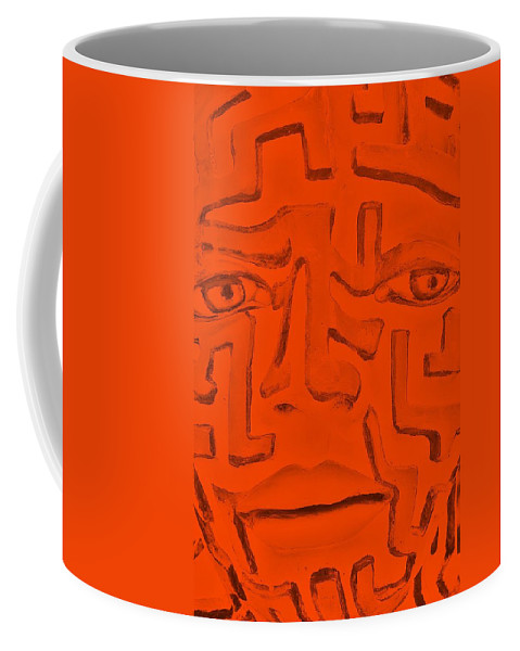 Maze Coffee Mug featuring the photograph Orange A Mazing Face by Rob Hans