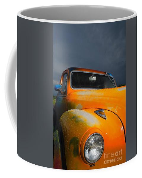 Orange Coffee Mug featuring the photograph Orange Car by Brandon Hirt