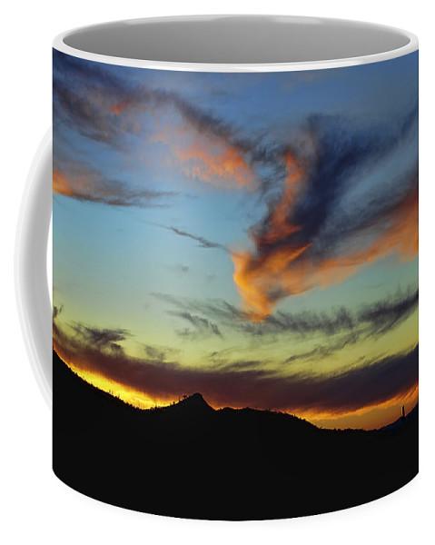 Arizona Coffee Mug featuring the photograph Orange Dragon Sunset by Ryan Seek