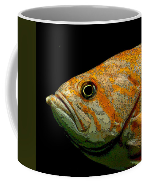 Fish Coffee Mug featuring the photograph Orange Fish by Art Block Collections