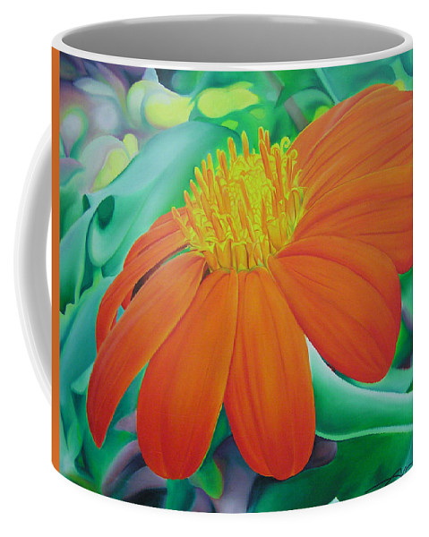 Flowers Coffee Mug featuring the painting Orange Flower by Joshua Morton