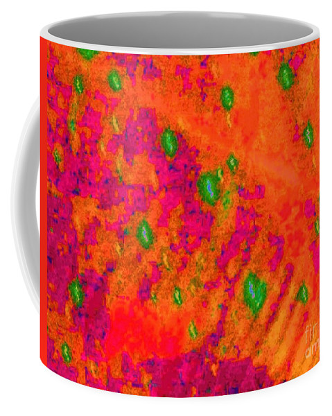 Orange Coffee Mug featuring the photograph Orange Purple Tapestry Abstract by Eric Schiabor