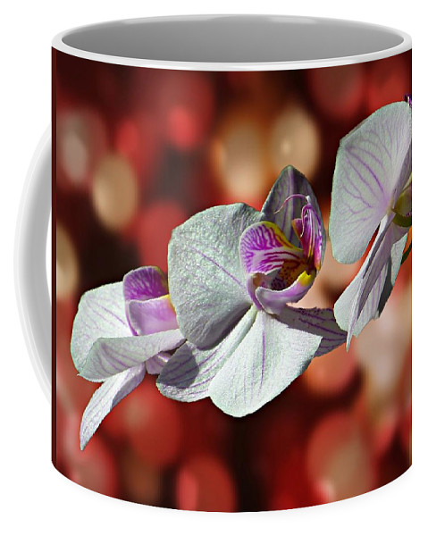 Orchid Coffee Mug featuring the photograph Orchid Flower Photographic Art by David Dehner