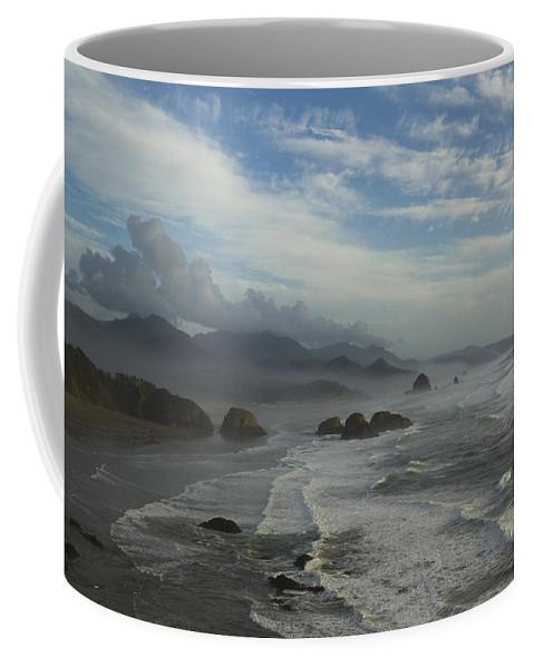 Haystack Coffee Mug featuring the photograph Oregon Coast Ecola 1 F by John Brueske