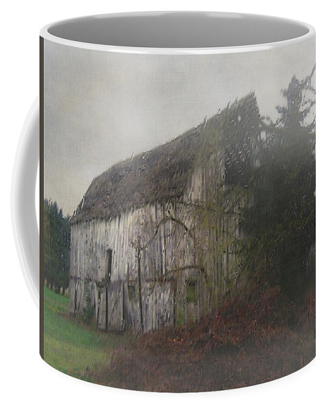 Barn Coffee Mug featuring the painting Oregon Relic by RC deWinter