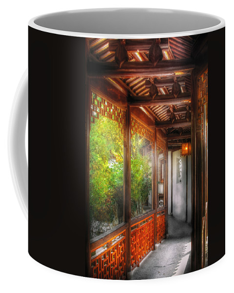 Savad Coffee Mug featuring the photograph Orient - Continue On by Mike Savad