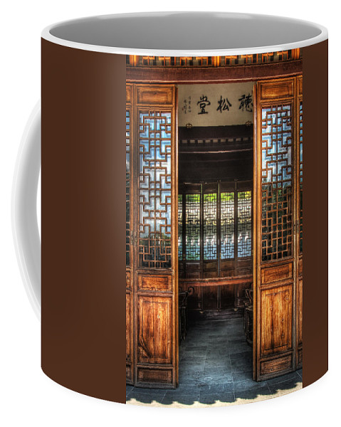 Doors Coffee Mug featuring the photograph Orient - Door - The Temple Doors by Mike Savad