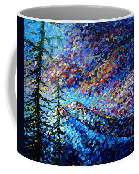 Abstract Coffee Mug featuring the painting Original Abstract Impressionist Landscape Contemporary Art By Madart Mountain Glory by Megan Duncanson