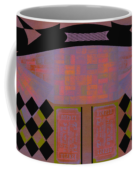 Abstract Coffee Mug featuring the photograph Orpheum by Linda Dunn