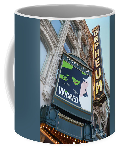 City Coffee Mug featuring the photograph Orpheum Sign by Carol Groenen