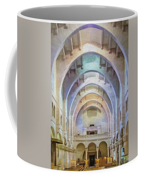 Africa Coffee Mug featuring the photograph Coptic Church by Maria Coulson