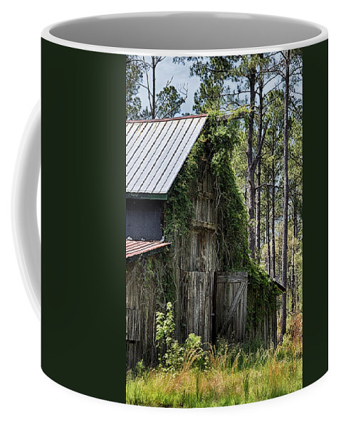 Barn Coffee Mug featuring the photograph Orton Plantation Barn by Priscilla Burgers