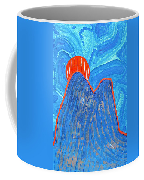 Abstract Realism Coffee Mug featuring the painting Os Dois Irmaos Original Painting Sold by Sol Luckman