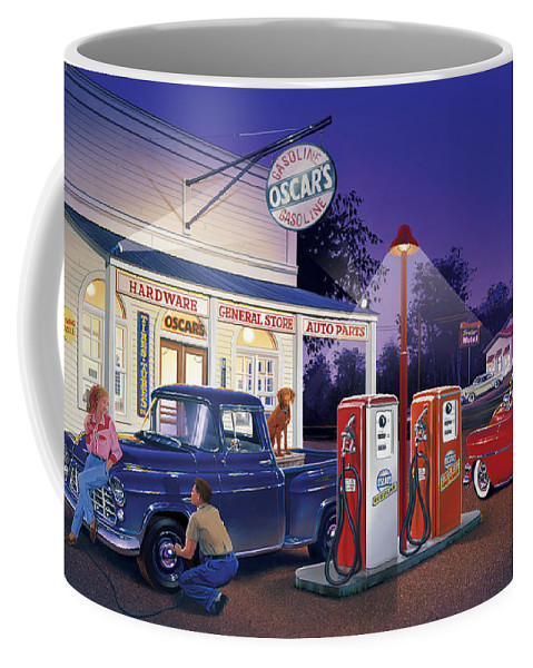 Adult Coffee Mug featuring the photograph Oscar's General Store by Bruce Kaiser