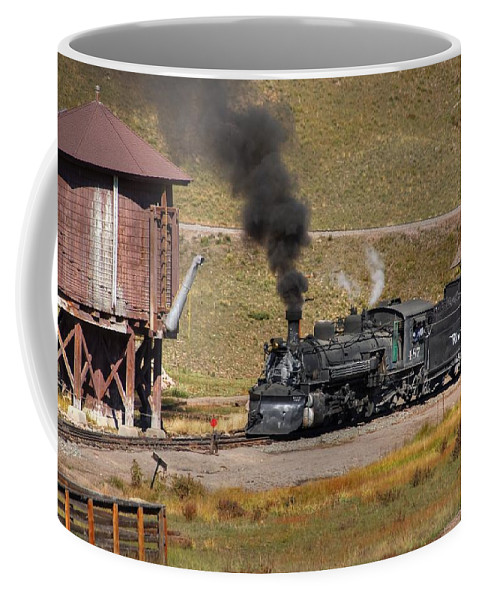 Steam Train Photographs Coffee Mug featuring the photograph Osier Water Tank by Ken Smith