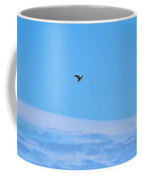Finland Coffee Mug featuring the photograph Osprey And A Pike High Over The Clouds by Jouko Lehto