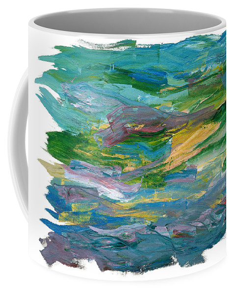 Abstract Coffee Mug featuring the painting Osterlen by Bjorn Sjogren